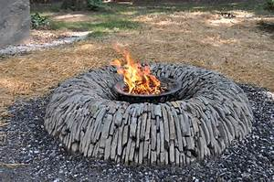 Homemade, Stone, Fire, Pit