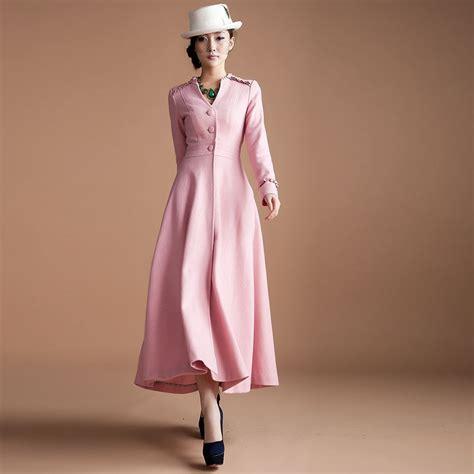 winter womens woolen outerwear elegant  long design