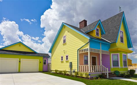 Colourful House by Colorful Disney Up House The Real Disney Up House Built
