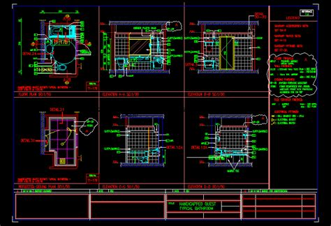 handicapped typical bathroom  autocad cad  kb