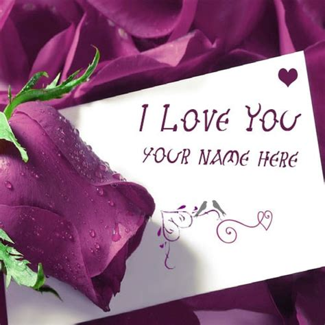 write    love  purple roses images