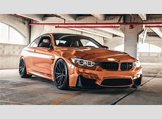 Rose Gold BMW M4 on Velos S10 1 pc Forged Wheels VELOS