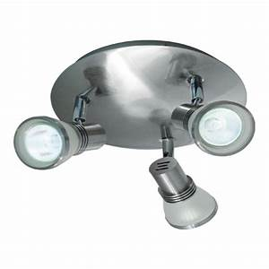 Bazz light brushed chrome halogen ceiling fixture with