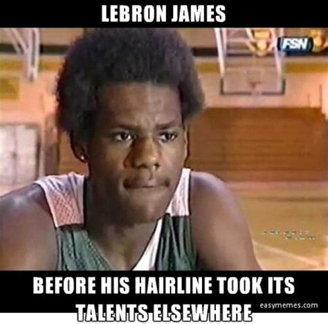 Lebron Hairline Meme - memories the 50 meanest lebron james hairline memes of all time complex