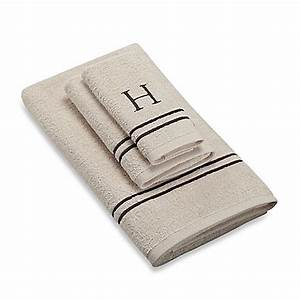 buy avanti monogram block letter quothquot bath towel in ivory With bath towels with letters