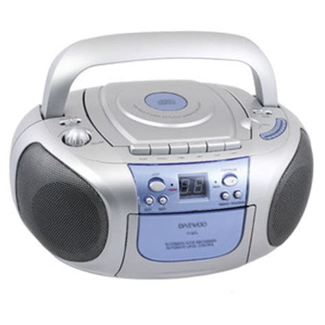 Cd Cassette Player by Daewoo Portable Cd Radio Cassette Player