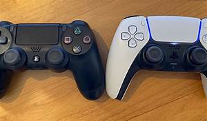 First Ps5 Dualsense Controller To Dualshock 4 Size