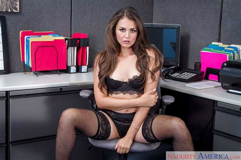 Fuckable Beautiful Teen Stripping At The Office Allie Haze