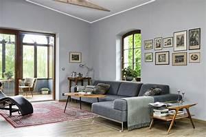 Wandfarbe Wohnzimmer Dunkle Mobel Raum Und Mbeldesign