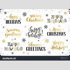 Hand Written New Year Phrases Greeting Stock Vector 539299207 Shutterstock