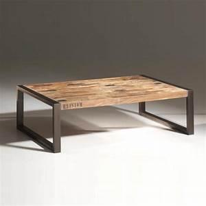 Table Noir Et Bois : table basse bois metal table basse table pliante et table de cuisine ~ Teatrodelosmanantiales.com Idées de Décoration