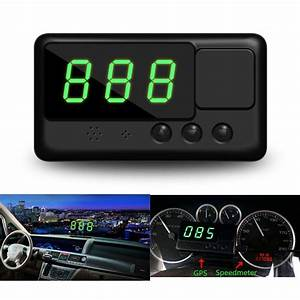 Us Head Up Car Hud Gps Digital Speedometer Display Mph  Km