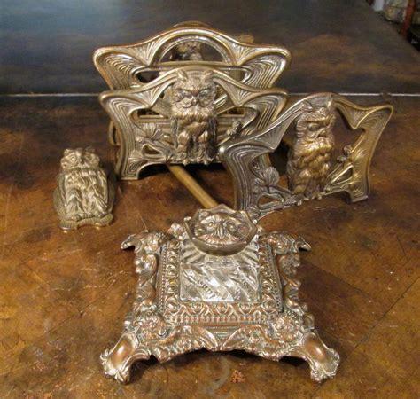 cast of desk set four antique cast iron owl desk set made by the