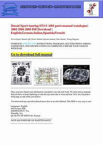 Ducati Sport Touring St4 S Abs Parts Manual  Catalogue