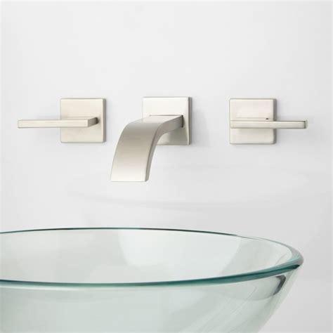 Ultra Wall Mount Bathroom Faucet   Lever Handles   Bathroom