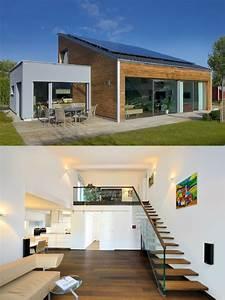 Haus Bungalow Modern : bungalow haus ederer baufritz moderner design pultdach bungalow mit holz fassade in ~ Markanthonyermac.com Haus und Dekorationen