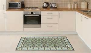 pale blue kitchen floor mat tile rug carpet vinyl cleanable pale blue vinylart housewares on