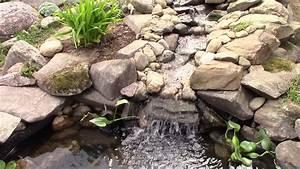 Jardin Avec Bassin : jardin d 39 eau avec cascade et bassin youtube ~ Melissatoandfro.com Idées de Décoration