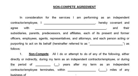 great  compete agreement texas independent