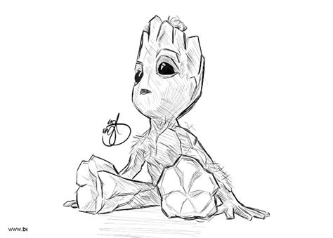 Baby Groot Color Page Drone Fest