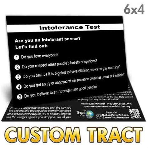 custom tract intolerance test   cl
