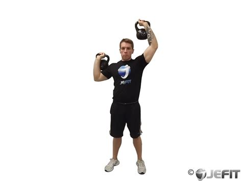 kettlebell press alternating exercises exercise shoulders workout jefit database enlarge