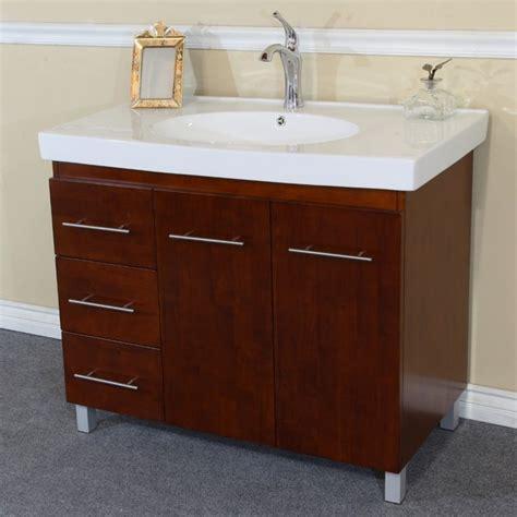Bathroom Vanity Top With Sink On Left Side Bellaterra Home 203129 W L 39 Inch Single Sink Vanity Wood