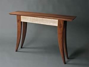 Custom Hall Table, modern design handmade furniture by