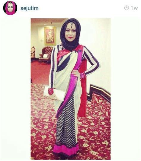 saree hijab pretty outfits  pinterest hijabs  saree