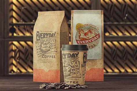 coffee packaging mockup set designhooks