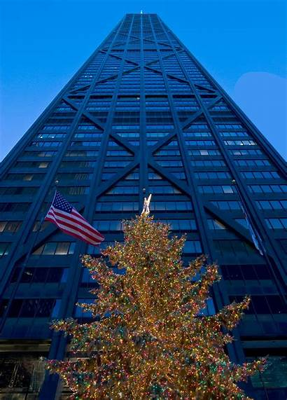 Buildings Architecture Decorated Holidays Chicago Lights Holiday