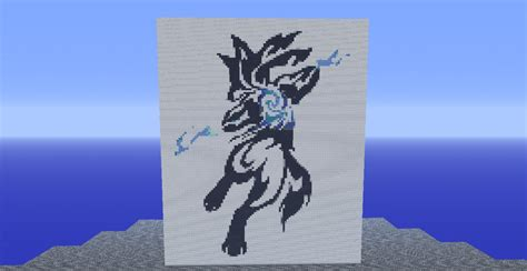 lucario tribal pixel art minecraft project