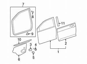Toyota Yaris Door Belt Molding  Front