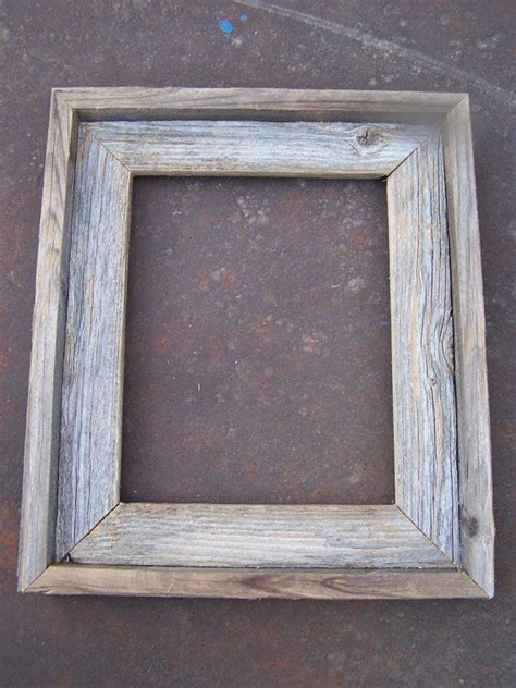 lot    barnwood picture frames  deluxe  flat