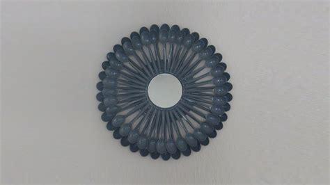 Diy glam wall decor/ mirror gallery. Plastic Spoon Sunburst Mirror DIY Wall Art - YouTube