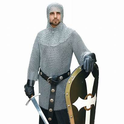 Chainmail Armour Armor Coif Medieval Leather Alaric