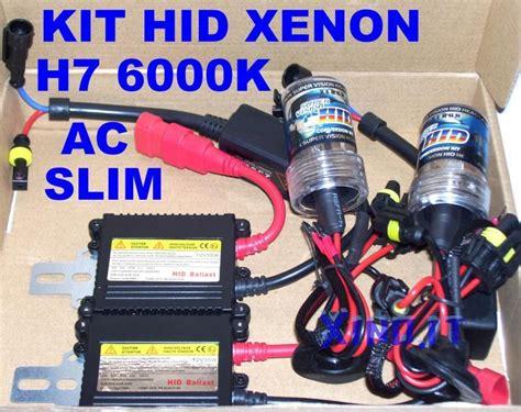 kit hid xenon h7 6000k 35w centraline ac slim ballast xeno 6000 176 k h 7 12v ladine hid