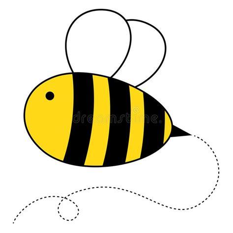 cute cartoon honey bee stock vector illustration