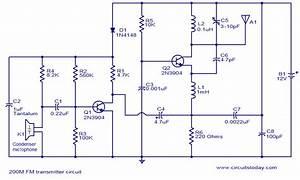 200m Fm Transmitterelectronics Project Circuts
