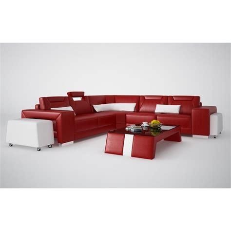 grand canapé d angle cuir grand canapé d 39 angle en cuir pleine fleur pop