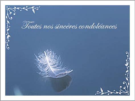 modèle carte de condoléances carte condol 233 ances 187 gt cartes condoleances plumes