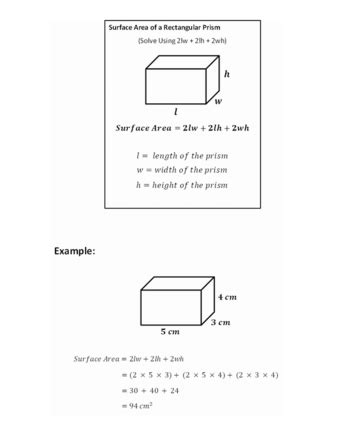 How To Calculate The Surface Area Of A Rectangular Prism (with Examples