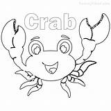 Coloring Pages Crab Printable Crabs Drawing Crane Getdrawings Sheet Clipartmag sketch template
