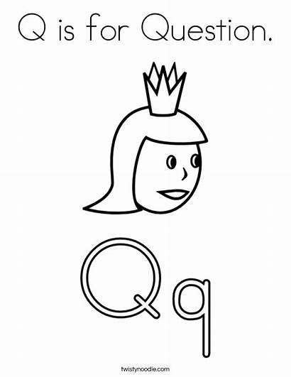 Question Letter Coloring Worksheet Preschool Pages Letters