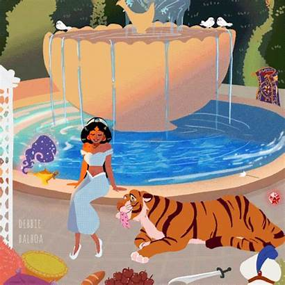 Debbie Balboa Disney Princesses Sketch