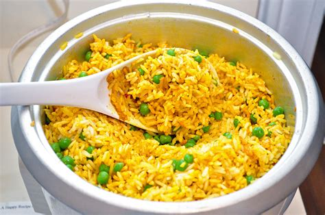 rice cooker recipes golden basmati rice with peas jenna s everything blog