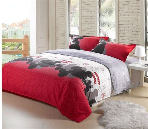 hot sale mickey mouse 4pcs bedding set twin full queen