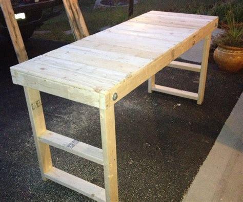 easy cheap folding workbench  steps