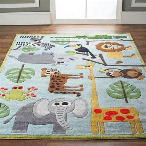 whimsical safari animals rug l shades by shades of