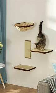 Arbre A Chat En Palette : arbre chat avec passerelles parcourt mural pour chat 4 tag res ~ Melissatoandfro.com Idées de Décoration